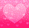 Vector clipart: abstract background with falling hearts on pink