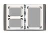 Векторный клипарт: фотоальбом страниц с ретро фото кадры. дизайн
