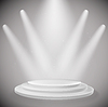 white podium and spot lights background. design