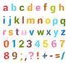 Sketched алфавит набор. Строчные буквы и цифры