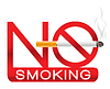Vector clipart: no smoking sign with cigarette and smoke