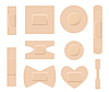 Vector clipart: Set of medical plasters. Adhesive bandage set