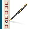 ID 5617158 | Tła ze znakiem podejmowania długopis w pudełku | Klipart wektorowy | KLIPARTO