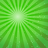 Vector clipart: Green abstract background with rays