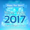 Vector clipart: Happy New Year greeting design template. New Year
