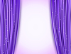 Vector clipart: violet theater curtains with glitter. abstract