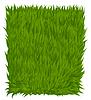 Vector clipart: Green grass texture rectangle . illustra