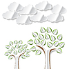 Vector clipart: Conceptual image with abstract paper trees and