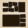 Векторный клипарт: Рамки для фотографий в стиле ретро набор альбома. шаблон дизайна