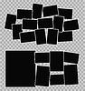 Векторный клипарт: шаблон Фотоальбом установлен на прозрачном фоне