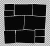 Векторный клипарт: Рамки для фотографий композиции альбома на прозрачной