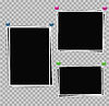 Vector clipart: Photo album set of photo frames with white border o