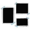 Vector clipart: Photo frames composition with tape. d