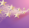 Vector clipart: celebration abstract background with stars with