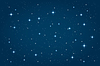 Vector clipart: Blue night starry background. horizontal design