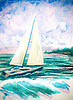 ID 5778283 | Hand painted watercolor with sea waves and sailboat | High resolution stock illustration | CLIPARTO