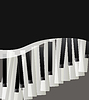 piano keys abstract musical background with space