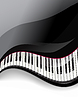 grand piano keys wavy background