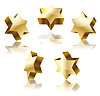 set of golden star of David