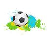Векторный клипарт: футбольный мяч на цвет брызги состава