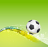 Vector clipart: football theme background with soccer ball and