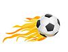 Fußball und Feuerflammen