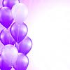 Векторный клипарт: фиолетовые шары границы фона