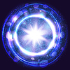 Vector clipart: fantasy blue light burst explosion with rays,lines