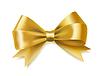 Векторный клипарт: Золотой лук ленты. декоративный элемент дизайна