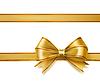 Векторный клипарт: золотой лентой лук. декоративные элементы