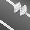 Векторный клипарт: белый украшение лента лук на сером фоне.