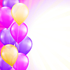 ID 5831378   背景明亮的粉红色和黄色气球   向量插图   CLIPARTO