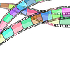 Vector clipart: cinema background with film strip