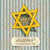 Holocaust-Gedenktag mit Davidstern. vecto