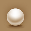 white sphere with shadow on brown background