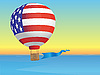 Vector clipart: Balloon and sea