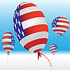 Vector clipart: Balloons and US flag