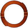 Vector clipart: round belt