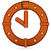 Vector clipart: Belt clock