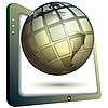 Globe and TV | Stock Illustration