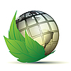 Leaf and globe | Stock Illustration