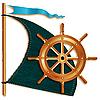 ID 3045668 | Segel und Schiffsteuerrad | Illustration mit hoher Auflösung | CLIPARTO