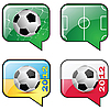 Vector clipart: Football and flag icons