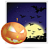 Vector clipart: Halloween card