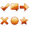Vector clipart: Brown signs