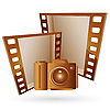 Vector clipart: frames and camera