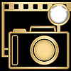 Vector clipart: Camera and slide