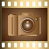 Векторный клипарт: фотокамера