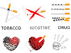 Vector clipart: Cigarettes and drugs