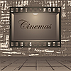 Vector clipart: Cinema and wall